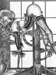 Two slave girls satisfies all his deviant sexual desires!